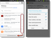 How to clear browsing history on the new Chrome for Android
