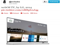 LG's WebOS TV purportedly pops up in leaked image